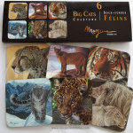 Set of 6 Big Cats Coasters